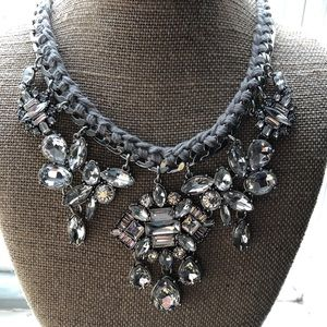 Deco crystal cluster necklace Chloe & Isabel